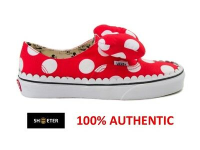 b2e5b8ddc40d61 Vans x Disney Authentic Gore Minnie Mouse Red Bow Slip On Kids Youth Women s