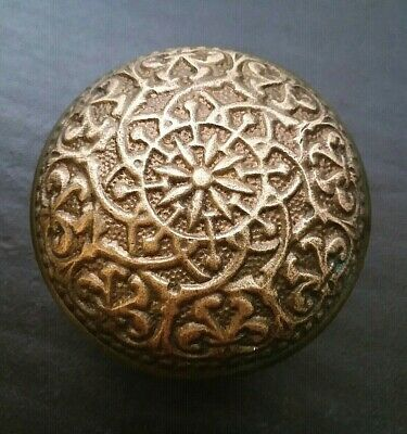 Beautiful Antique Brass Bronze Door Knob Victorian Eastlake Russell Erwin