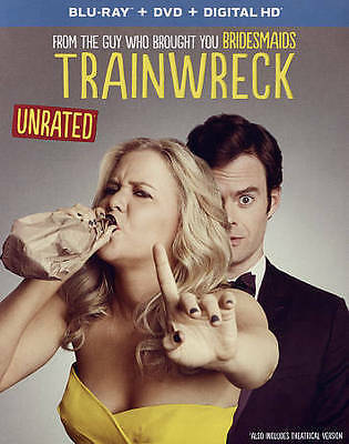 Trainwreck (Blu-ray/DVD, 2015) NEW w/ FREE FAST SHIPPING (2-Disc Set)