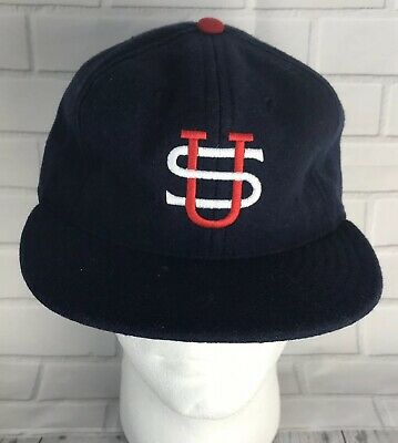 85271a35954 Ebbets Field Flannels US Tour Of Japan 1934 Ball Cap Hat Wool Fitted Sz 7 5