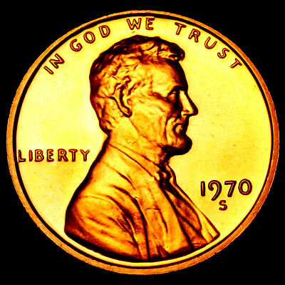 1970 S GEM BU PROOF Lincoln MemoriaL BRILLIANT UNCIRCULATED PENNY US COIN PF