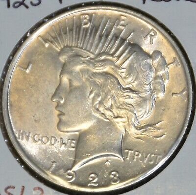 Ms Uncirculated/unc  1923-P High Quality Peace Silver Dollar $1 Coin
