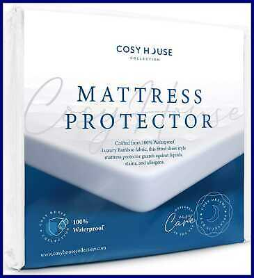 Crib & Toddler Mattress Protector Waterproof Ultra Soft Fitted Pad Cover Stays C
