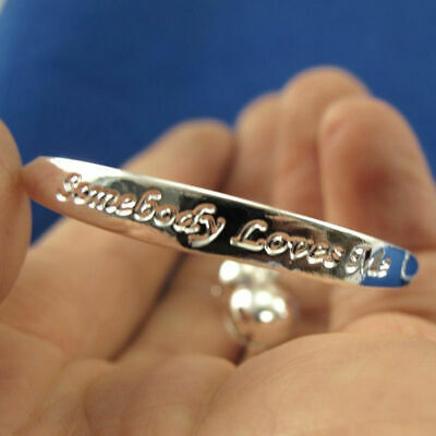 2 x SILVER PLATED BABY BANGLE/BRACELET OR ANKLET