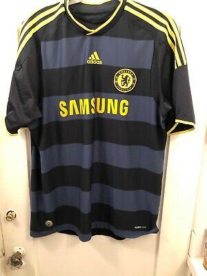 1aceb5c0b3d Adidas Climacool Chelsea FC Samsung Men s Soccer Jersey Large Blue Yellow  Trim