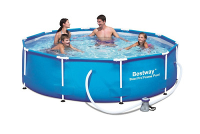 """Bestway 10'x30"""" Steel Pro Frame Above Ground Swimming Pool Set with Filter Pump"""