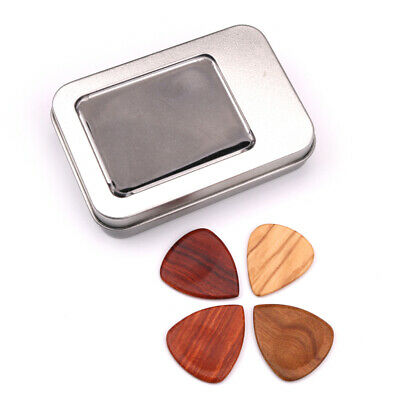 4pcs Acoustic Bulk Celluloid Electric Smooth Guitar Pick Picks Plectrum With Box
