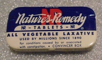 scarce old NR Nature's Remedy medical tin mint full