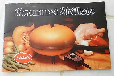 Gourmet Skillets Sunbeam Vintage Cook Book & Instruction Manual Retro C1970s