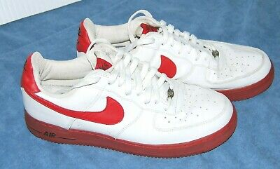 2f2cae0b21 Men's 2004 Nike Air Force 1 Shoes 306353 163 White With Red Men's Size 12