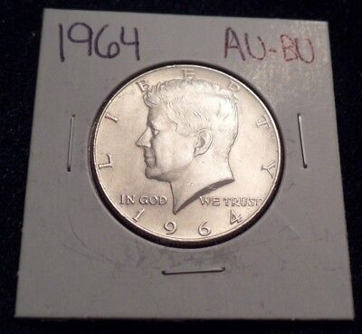 #614 About To Brilliant Uncirculated Silver Kennedy Half Dollar 1964 P Au / Bu