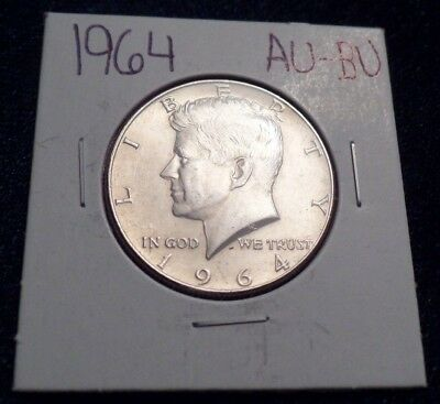 #616 About To Brilliant Uncirculated Silver Kennedy Half Dollar 1964 P Au / Bu