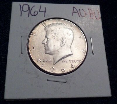 #617 About To Brilliant Uncirculated Silver Kennedy Half Dollar 1964 P Au / Bu