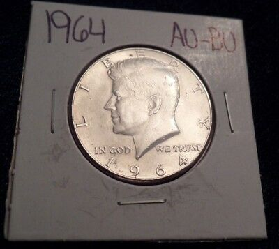 #621 About To Brilliant Uncirculated Silver Kennedy Half Dollar 1964 P Au / Bu