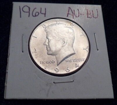 #622 About To Brilliant Uncirculated Silver Kennedy Half Dollar 1964 P Au / Bu