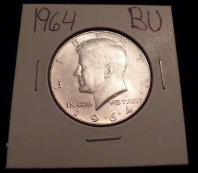 #831 Brilliant Uncirculated Silver Kennedy Half Dollar 1964 Bu