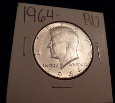 #573 Brilliant Uncirculated Silver Kennedy Half Dollar 1964 Bu