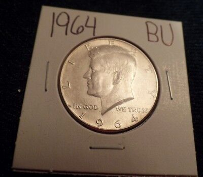 #567 Brilliant Uncirculated Silver Kennedy Half Dollar 1964 Bu