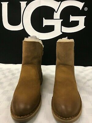 54504d3fe82 UGG AUSTRALIA NAIYAH Chestnut Boot Lace Up Shearling Lace Up women's ...