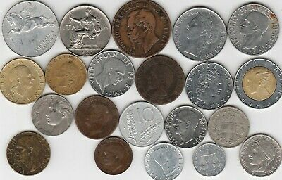21 different world coins from ITALY