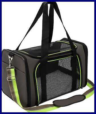 Pet Carrier Compatible Dog & Cats Airline Approved Bag Travel Collapsible For SM