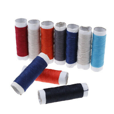 10Pcs mixed colors polyester spool DIY sewing thread kit for hand machine set