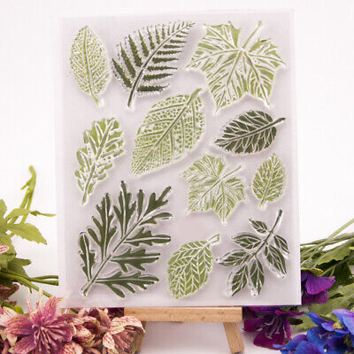 leaves transparent clear silicone stamp for diy scrapbooking photo decoration