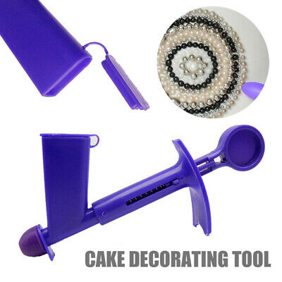 2pcs Set 6mm+3mm Plastic Pearl Applicator Tool For Fondant Cake Decorating DIY
