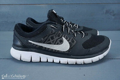 check out ab256 935d1 Nike Flex 2015 Run Youth Girls Size 6.5 Running Shoes Black White