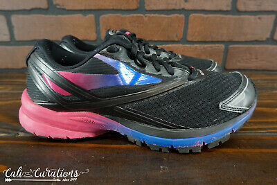 fc91a752a58 VGC! BROOKS LAUNCH 4 Womens Size 8.5 Running Shoes Black Blue Pink ...
