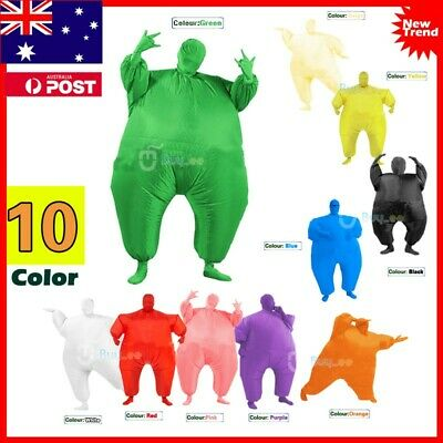 Inflatable Fancy Chub Fat Masked Suit Dress Blow Up Christmas Party Costume AU