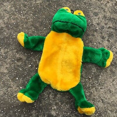 """FRANKY THE FROG """"Green"""" Novelty Plush Cuddly Hot Water Bottle Cover Cozy"""