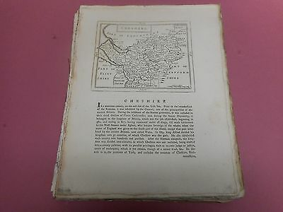 100% Original Cheshire Map By Seller/grose C1790 Vgc