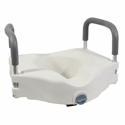 Aidapt Viscount Raised 6'' Toilet Seat With Removable Arms