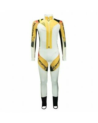 - La Sportiva Cube Racing Suit Tuta Sci Alpinismo, White/Yellow