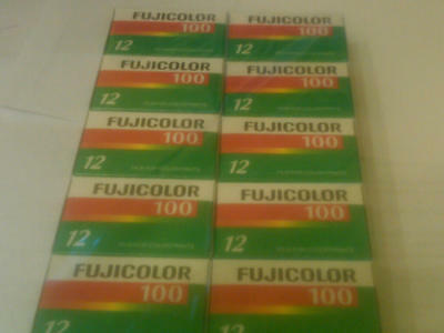 FUJI COLOR CN 100 35 mm film 12 exp 10 rolls  expired 07/2010