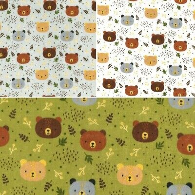 Designer Novelty Polycotton Fabric Cartoon Baby Fox Foxes Flowers Woodland
