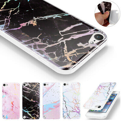For Apple iPod Touch 5 6th Gen Marble Case Shockproof Hybrid Soft TPU Gel Cover