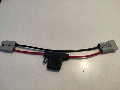 FUSED Anderson Lead 50amp genuine anderson  plug x 2 in 6 mm cable