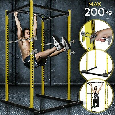 Power Cage Multipresse Squat Rack Kraft Fitness-Station Half Kniebeugenständer