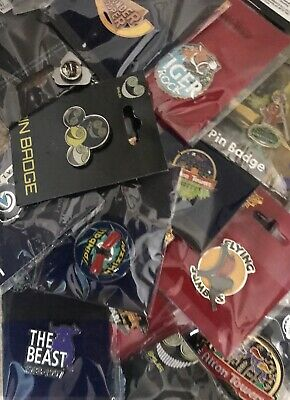 Merlin Pin Badges Chessington, Thorpe, Towers, Dungeons, Sealife And Many More