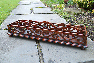 Superb antique colonial mahogany gallery butlers tray circa.1890 serving tray