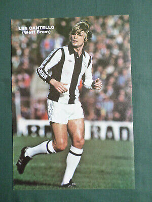 TOPPS 1979 FOOTBALLERS #280-WEST BROMWICH ALBION-LEN CANTELLO
