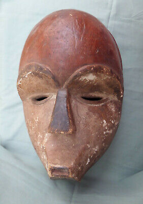 Vintage African Hand Carved Wooden Face Mask - Full size