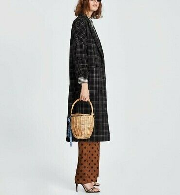 d48a36f2 ZARA DOUBLE BREASTED plaid check coat size XS - $79.00 | PicClick