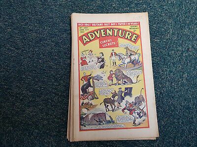 ADVENTURE COMIC - 12  issues from 1941 - D. C. Thomson