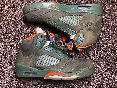 0dad13d5c8f 2006 Nike Air Jordan 5 Retro Ls Army Olive Solar Orange 2006 314259-381 Sz