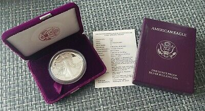1988-S American Eagle Proof Silver Dollar-1oz. with COA And BOX *BEAUTIFUL*