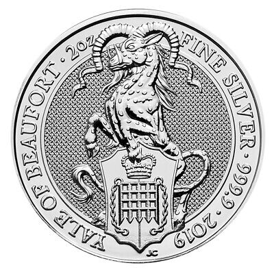 2 oz Silber Queen's Beasts - Yale of Beaufort - Großbritannien 2019