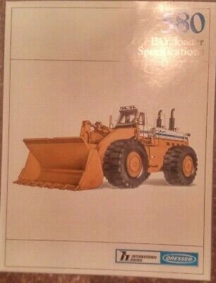 INTERNATIONAL HOUGH DRESSER 580 Pay Loader Specifications brochure - April  1984